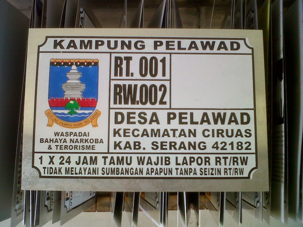 LAYANAN JASA CETAK NOMOR  RUMAH TERMURAH DI Gorontalo Gorontalo Sulawesi