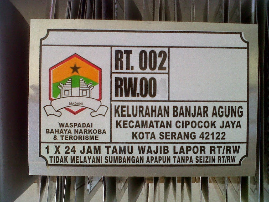 LAYANAN JASA CETAK NOMOR  RUMAH TERMURAH DI Bandung Jawa Barat Jawa