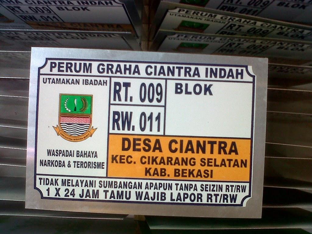 LAYANAN JASA CETAK NOMOR  RUMAH TERMURAH DI Bengkulu Bengkulu Sumatera