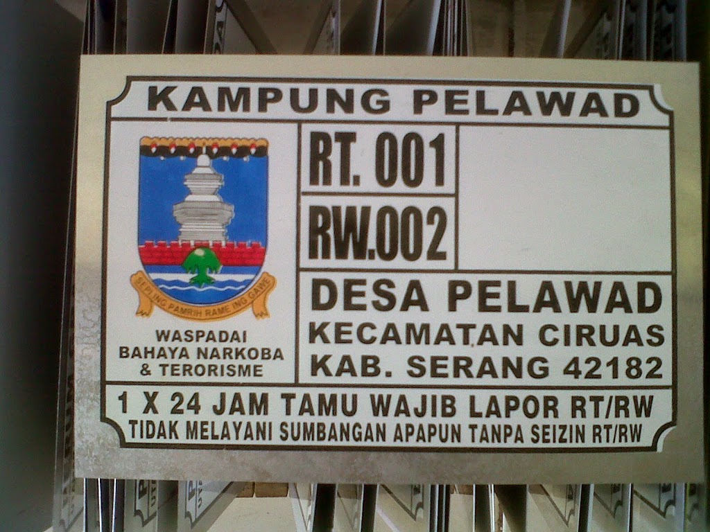 LAYANAN JASA CETAK NOMOR  RUMAH TERMURAH DI Semarang Jawa Tengah Jawa