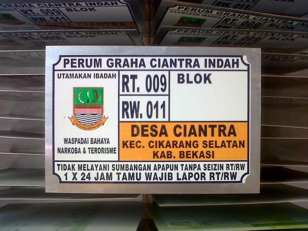 LAYANAN JASA CETAK NOMOR RUMAH TERMURAH DI Pangkalpinang Kepulauan Bangka Belitung Sumatera